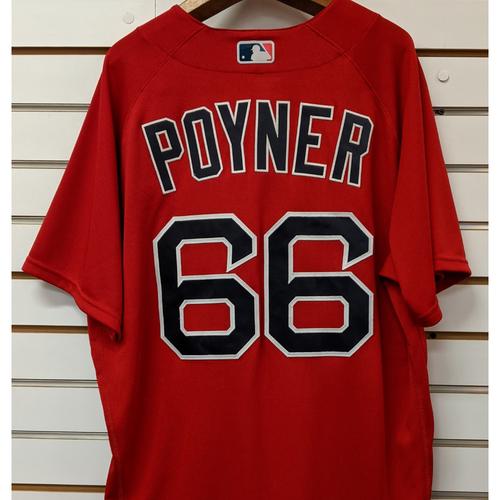 Bobby Poyner #66 Team Issued Nike Red Spring Training Jersey