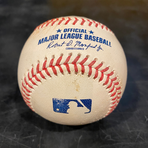 Photo of 2021 Game Used Baseball used on 4/28 vs. COL - B-7: Yency Almonte to Alex Dickerson - Single to CF
