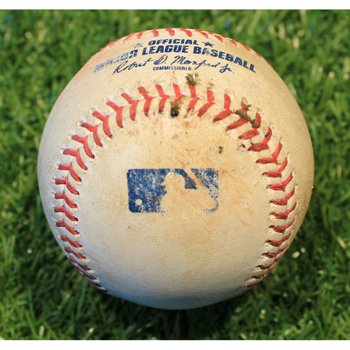 Photo of Game-Used Baseball: LaMonte Wade Jr. 3rd Career Double (MIN @ KC 8/22/20)