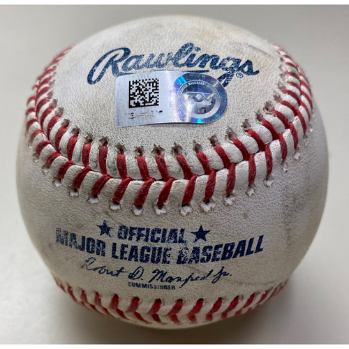 Photo of Game-Used Baseball: Jeimer Candelario Detroit Tigers RBI Double (MLB AUTHENTICATED)