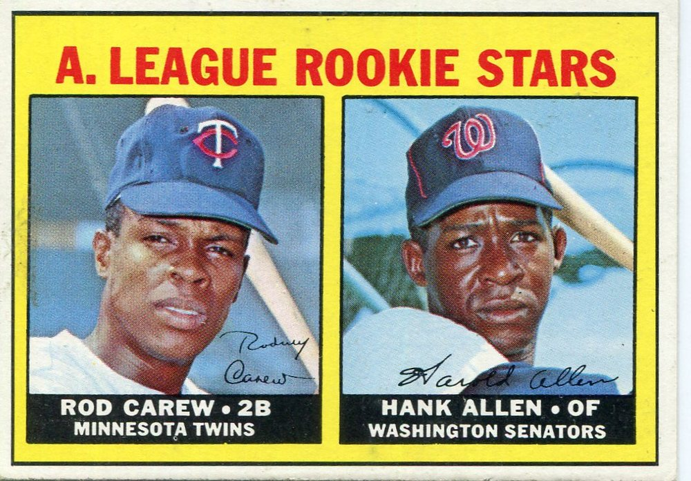 1967 Topps #569 Rookie Stars/Rod Carew Rookie Card/Hank Allen RC