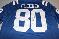 COLTS - COBY FLEENER SIGNED COLTS REPLICA JERSEY - SIZE XL