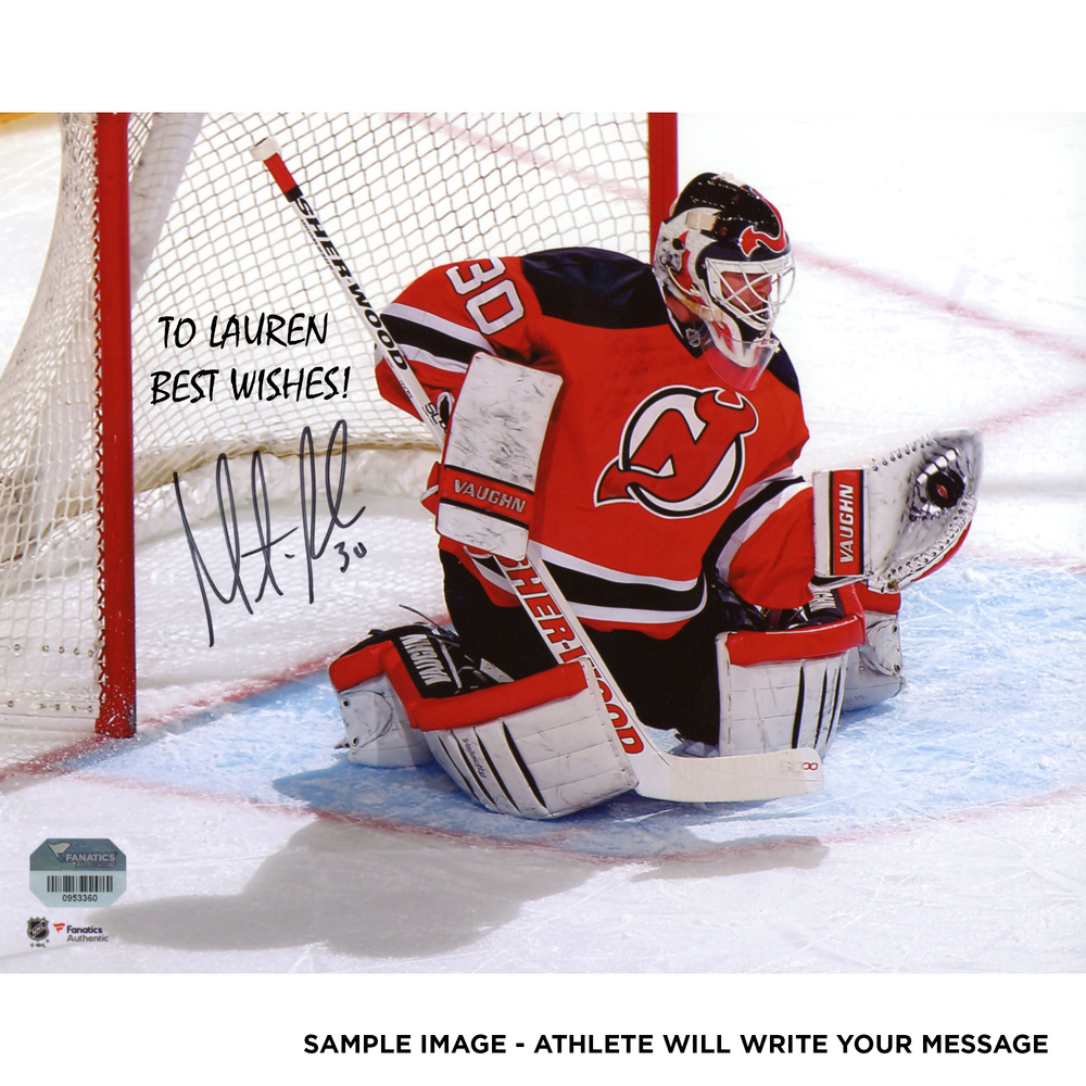 Martin Brodeur New Jersey Devils Autographed Personalized 8