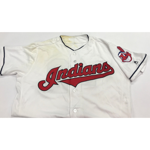 "Photo of Lonnie Chisenhall Game Worn 2017 ""42"" Jersey"
