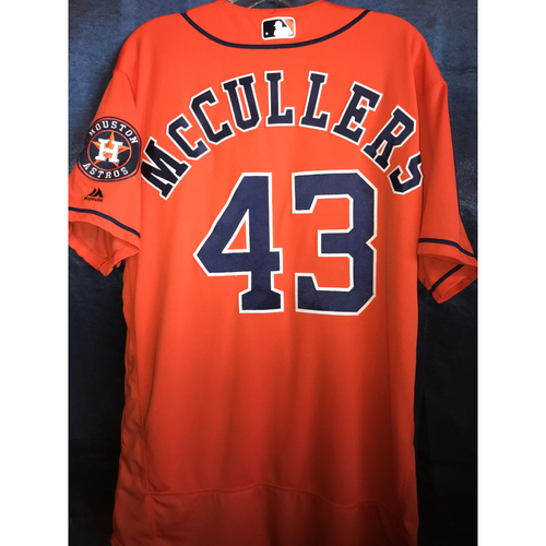 Photo of 2018 Lance McCullers Game-Used Orange Alternate Jersey