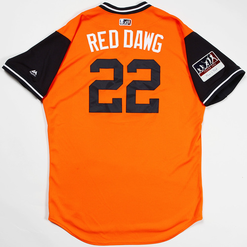 "Photo of Josh ""Red Dawg"" Reddick Houston Astros Game-Used 2018 Players' Weekend Jersey"