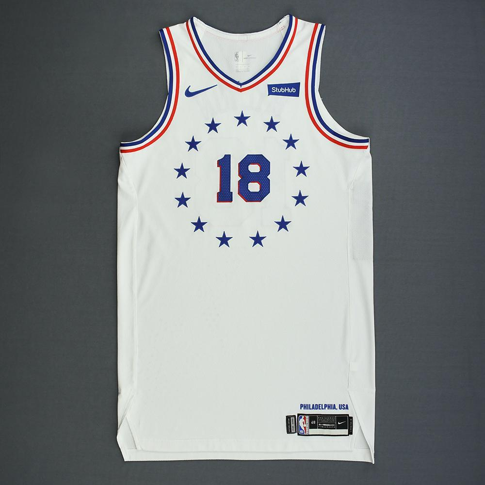 Shake Milton - Philadelphia 76ers - Christmas Day' 18 - Game-Worn Earned City Edition Jersey - Dressed, Did Not Play