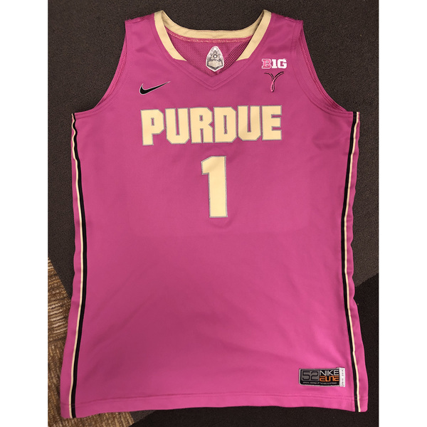 Photo of Purdue Women's Basketball 2015-16 Commemorative Cancer Awareness Pink Jersey #1 / Size 52