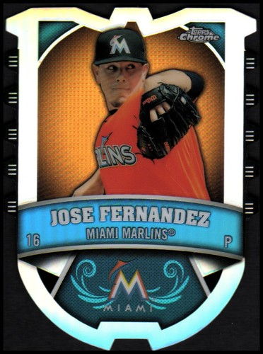 Photo of 2014 Topps Chrome Chrome Connections Die Cuts #CCJF Jose Fernandez
