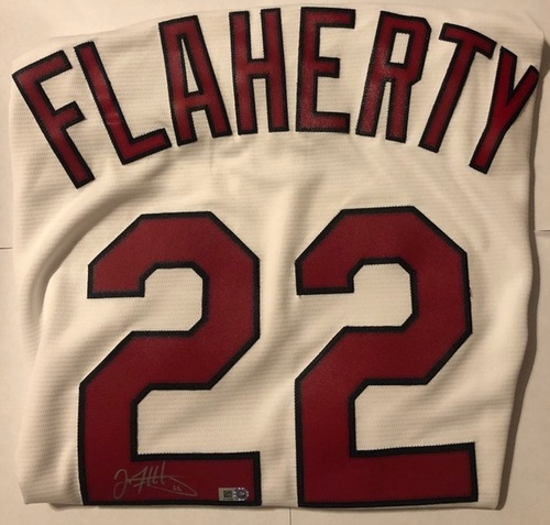 Photo of Jack Flaherty Autographed Cardinals Replica Jersey