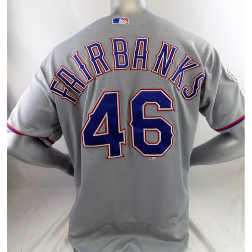 Photo of Team-Issued Grey Jersey - Pete Fairbanks