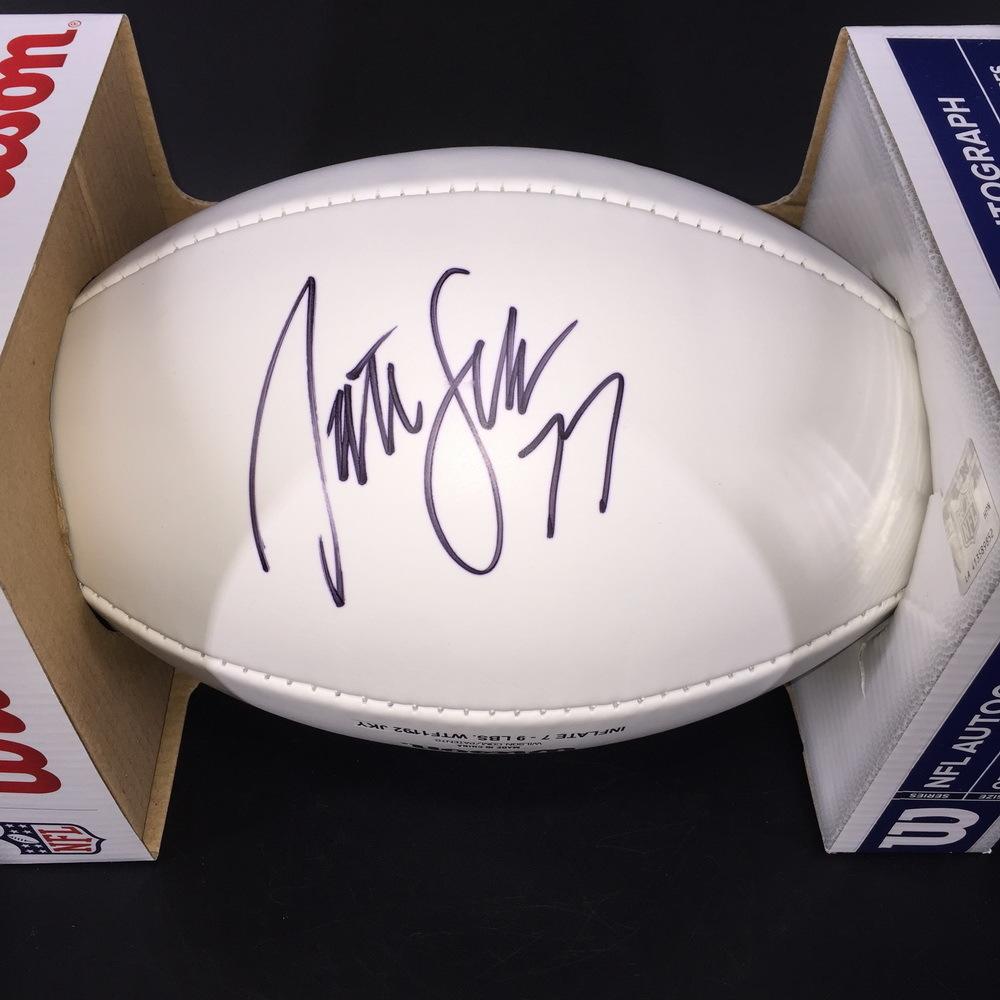 Patriots - Nate Solder Signed Panel Ball w/ Patriots Logo