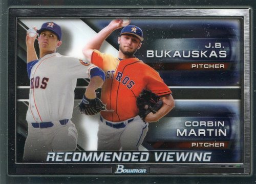 Photo of 2017 Bowman Chrome Draft Recommended Viewing #RVHOU Corbin Martin/J.B. Bukauskas