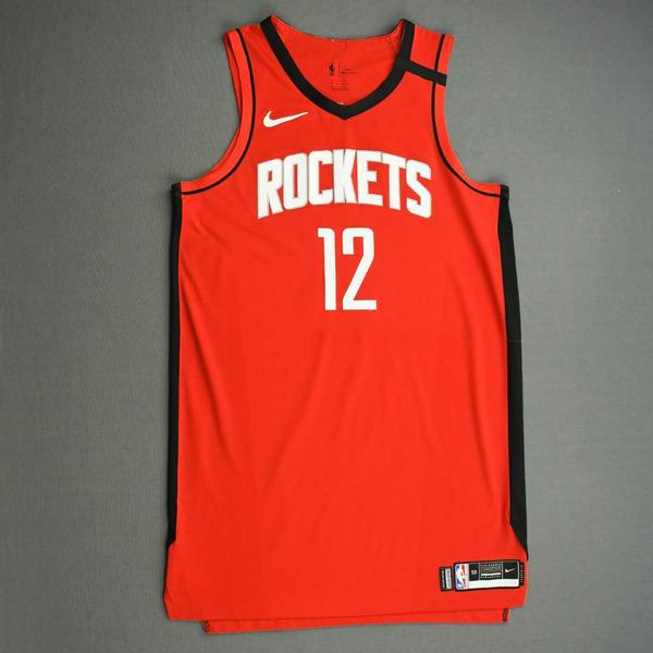 Image of Luc Mbah a Moute - Houston Rockets - Game-Worn Icon Edition Jersey - Dressed, Did Not Play (DNP) - 2019-20 NBA Season Restart with Social Justice M...