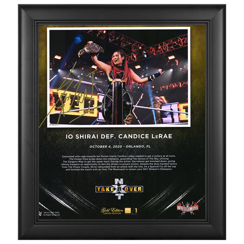 Photo of Io Shirai SIGNED NXT TakeOver 31 WrestleMania Gold Edition Plaque (#1 of 1)