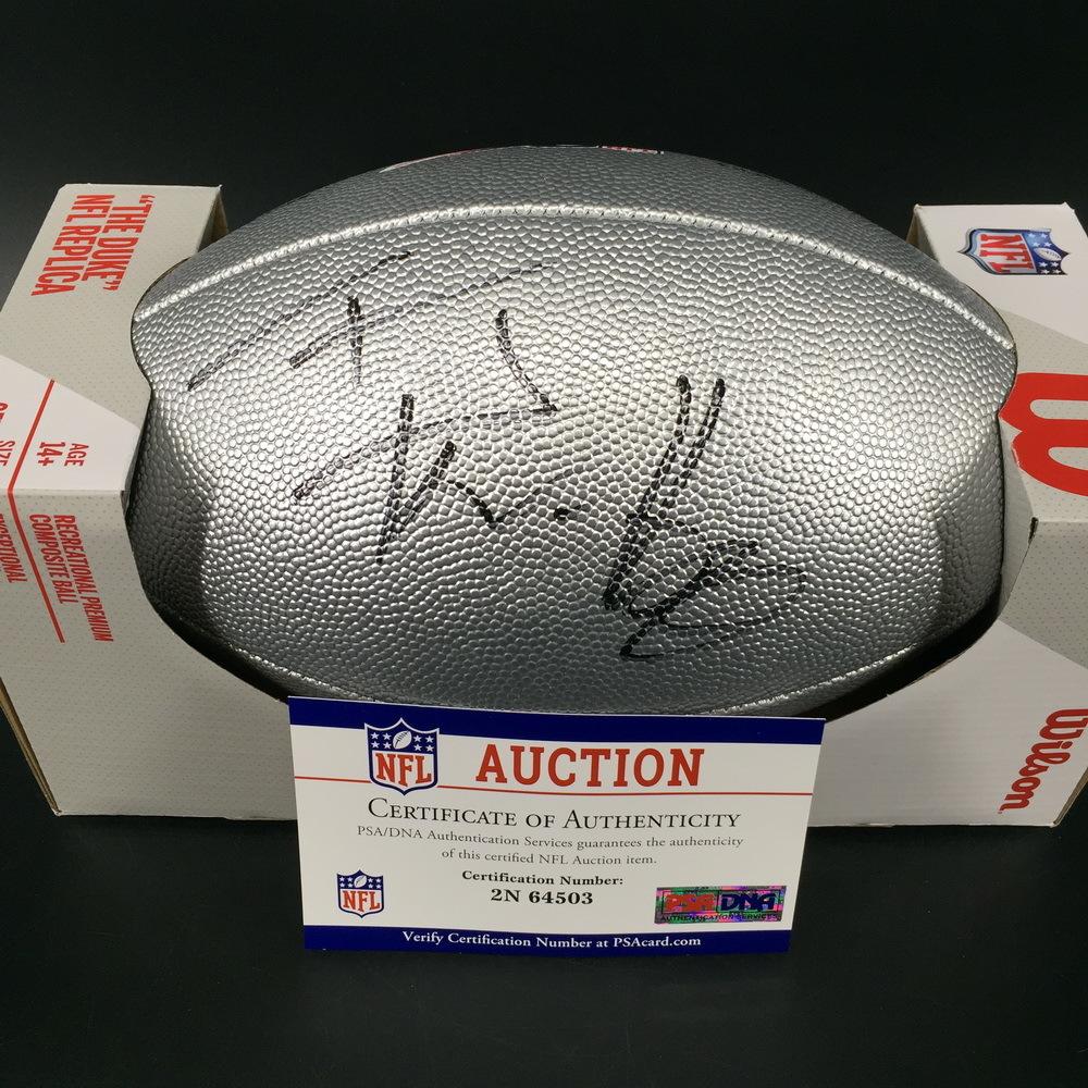 NFL - Steelers T.J. Watt Signed Silver 100 Seasons Commemorative Football