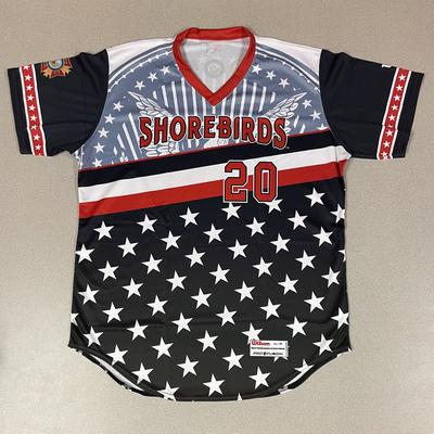 Patriotic Game Worn Autographed Jersey #20 Size 46 Colton Cowser