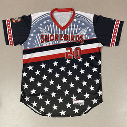 Photo of Patriotic Game Worn Autographed Jersey #20 Size 46 Colton Cowser