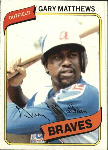 Photo of 1980 Topps #355 Gary Matthews