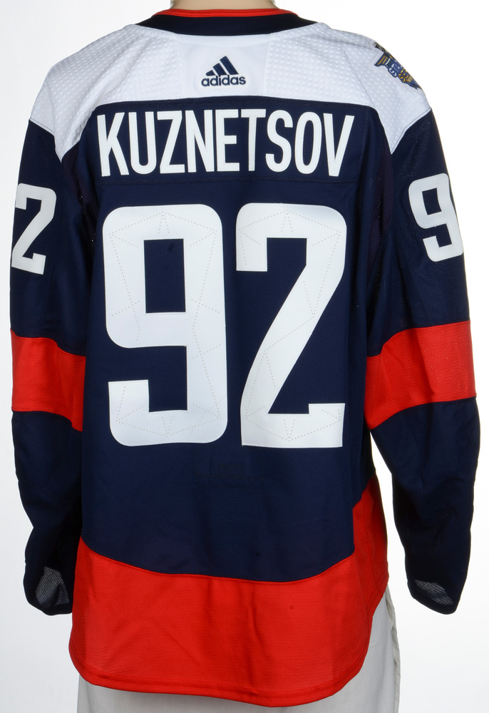 Evgeny Kuznetsov Washington Capitals Game-Worn 2018 NHL Stadium Series Jersey - Goal Scored in this Jersey