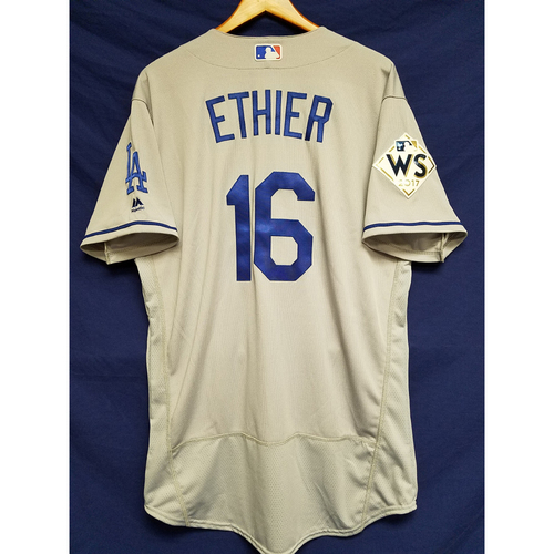 Photo of Andre Ethier 2017 Road World Series Team-Issued Jersey