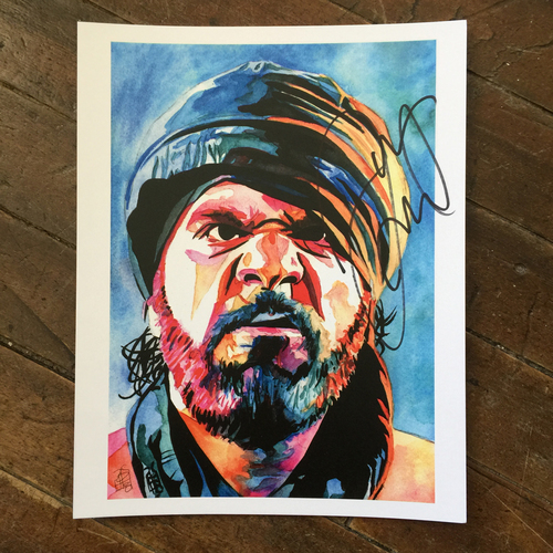 Photo of Jinder Mahal SIGNED 11 x 14 Rob Schamberger Print