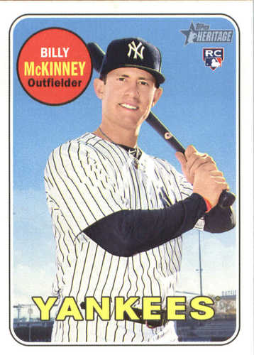Photo of 2018 Topps Heritage #663 Billy McKinney RC