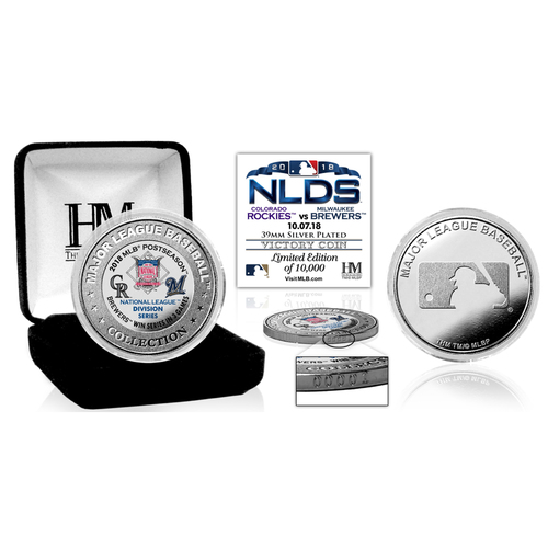 Photo of Milwaukee Brewers 2018 NLDS Victory Silver Color Coin