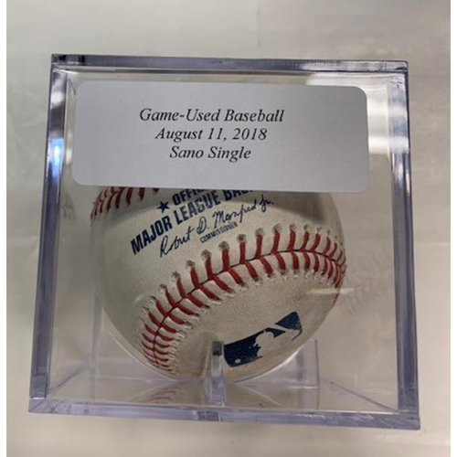 Photo of Game-Used Baseball: Miguel Sano Single