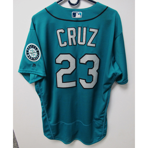 Photo of Nelson Cruz Game-Used Green Jersey - Aug 3, 2018