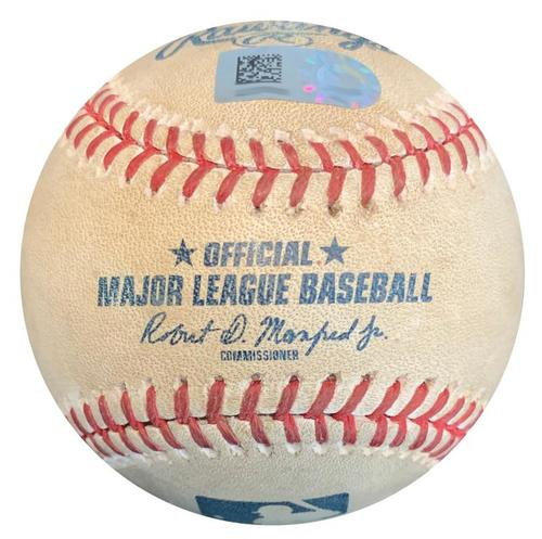 Photo of Game-Used Baseball from Pirates vs. Rockies on 4/18/18 - Freeland K, LeMahieu Foul