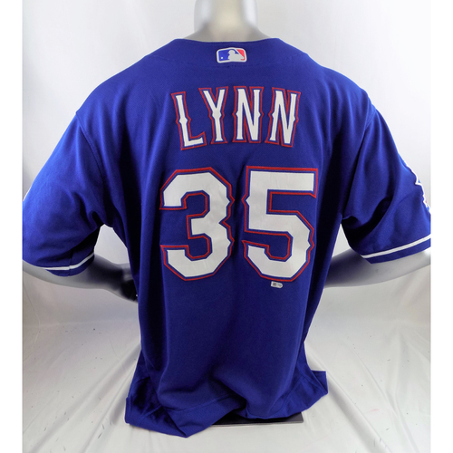 Photo of Game-Used Blue Jersey - Lance Lynn - 7/11/19