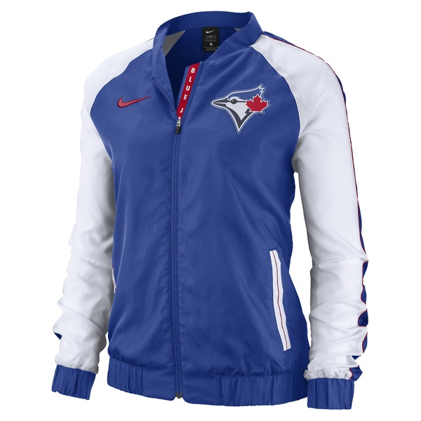 Toronto Blue Jays Women's Full-Zip Varsity Jacket by Nike