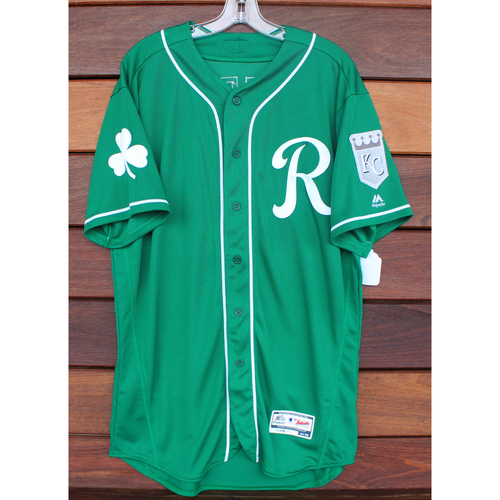 Photo of Team-Issued St. Patrick's Day Jersey: Kurt Peterson (Size - 46)