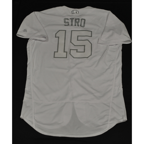 "Photo of Jason ""Stro"" Castro Minnesota Twins Game-Used 2019 Players' Weekend Jersey"