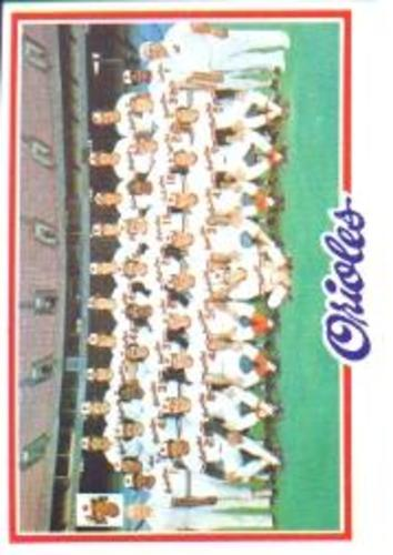 Photo of 1978 Topps #96 Baltimore Orioles CL