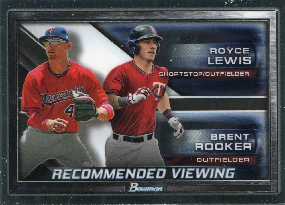 2017 Bowman Chrome Draft Recommended Viewing #RVMIN Royce Lewis/Brent Rooker
