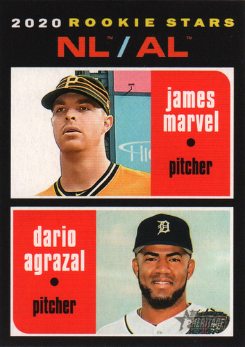Photo of 2020 Topps Heritage #27 Dario Agrazal RC/James Marvel RC
