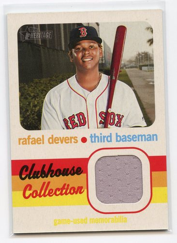 Photo of 2020 Topps Heritage Clubhouse Collection Relics #CCRRD Rafael Devers