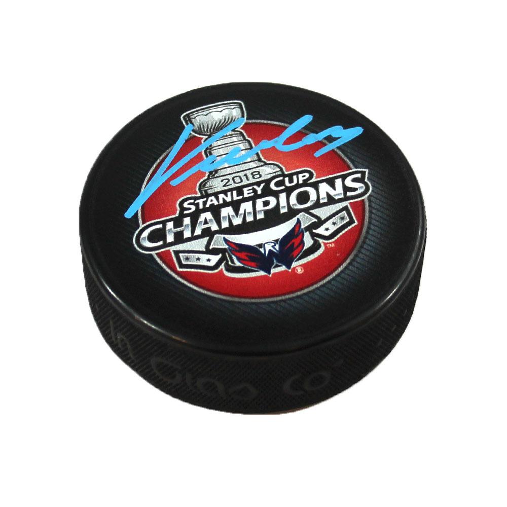 Jakub Vrana Washington Capitals Signed 2018 Stanley Cup Champions Hockey Puck