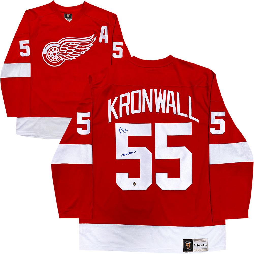 Niklas Kronwall Autographed Detroit Red Wings Fanatics Jersey w/KRONWALLED Inscription