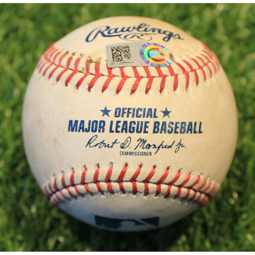Photo of Game-Used Baseball: Miguel Sano 95th Career Double (MIN @ KC 8/21/20)