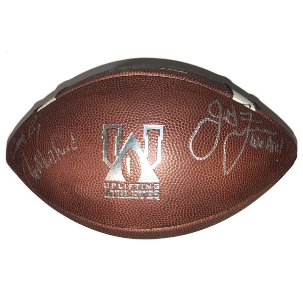 Photo of Autographed Game-Used Football from the 2017 Penn State Blue-White Game to benefit Uplifting Athletes (C)