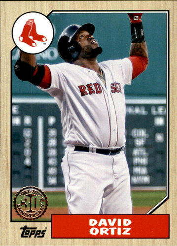 Photo of 2017 Topps '87 Topps #8776 David Ortiz