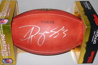 COLTS - DWAYNE ALLEN SIGNED AUTHENTIC FOOTBALL W/ COLTS TEAM STAMP
