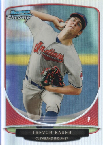 Photo of 2013 Bowman Chrome Cream of the Crop Mini Refractor Trevor Bauer
