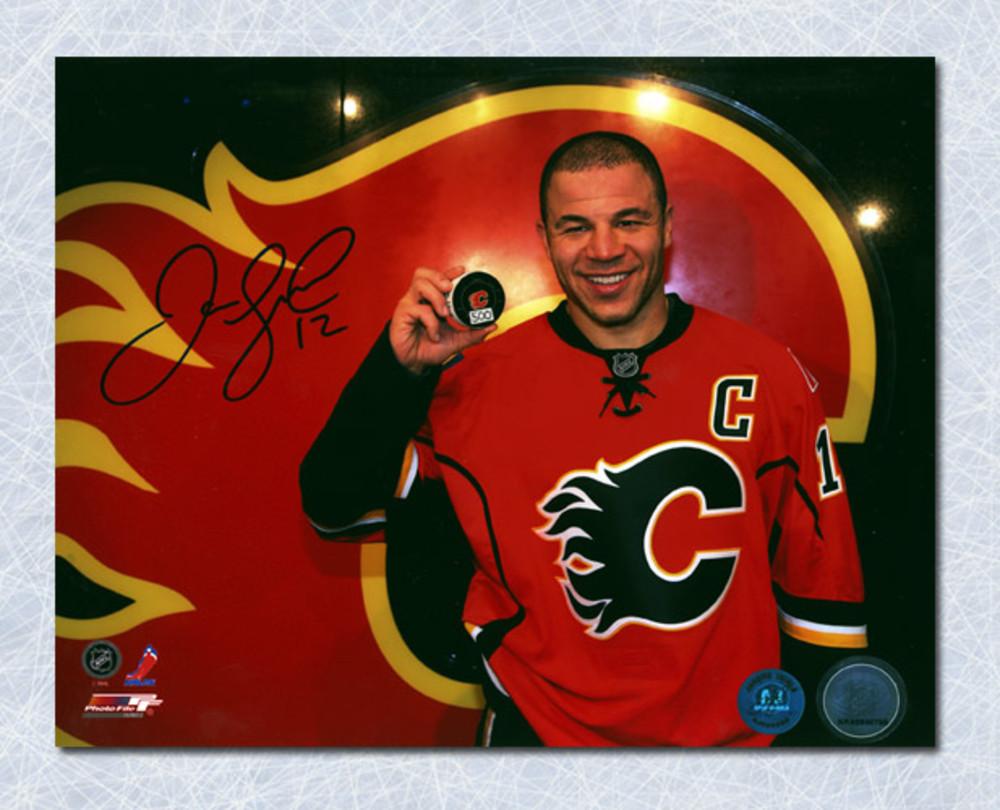 Jarome Iginla Calgary Flames Autographed 500th Career Goal 8x10 Photo