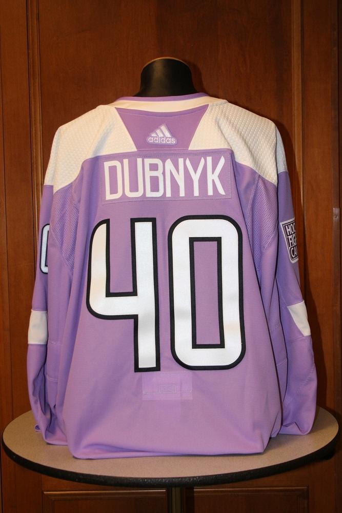Devan Dubnyk Minnesota Wild 2017 Hockey Fights Cancer Night Warm-Up Jersey (Size 60G)