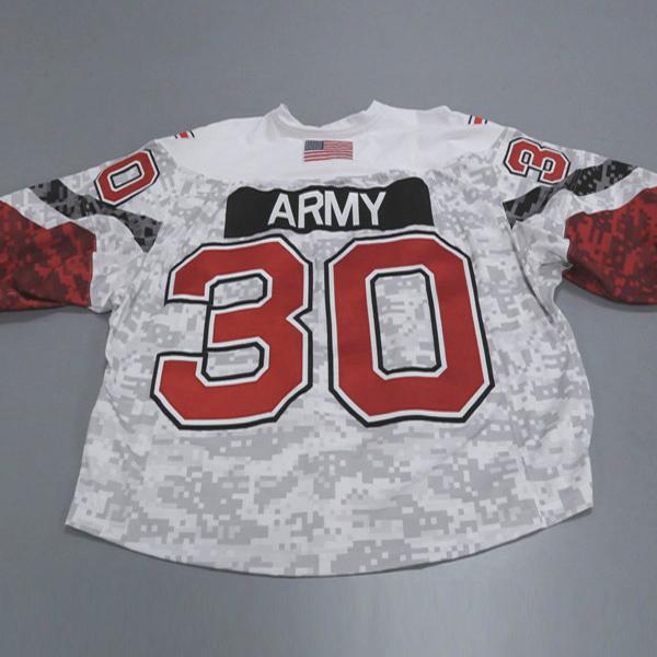 "Photo of Ohio State Ice Hockey Military Appreciation Jersey #30 ""Army"" / Size 60G"