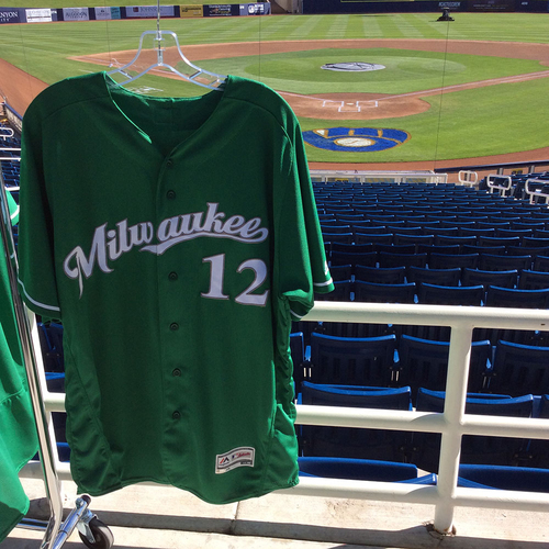 Photo of Stephen Vogt 2018 Team-Issued St. Patrick's Day Jersey